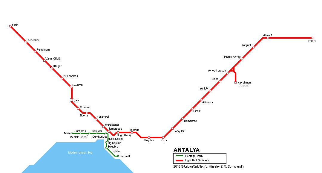 схема метро Анталья
