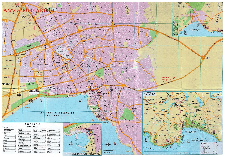 карта антальи где находится калеичи