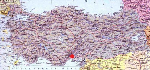 тарсус на карте турции