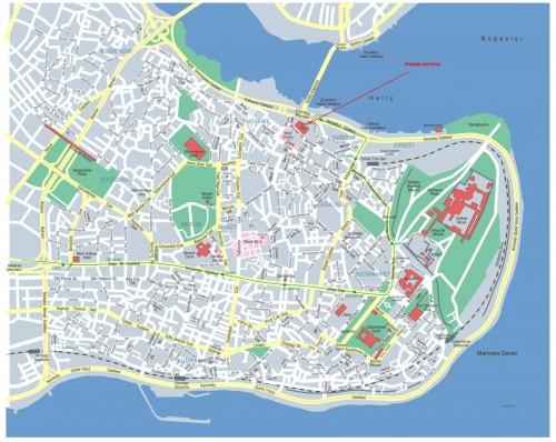 где находится Новая мечеть на карте Стамбула