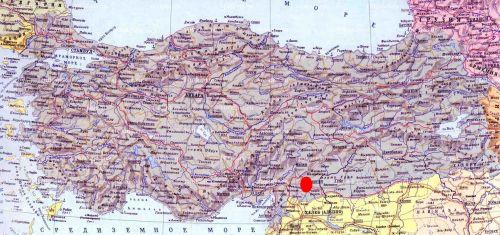 газиантеп на карте турции