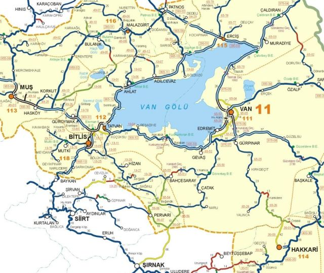 где находится битлис на карте Турции