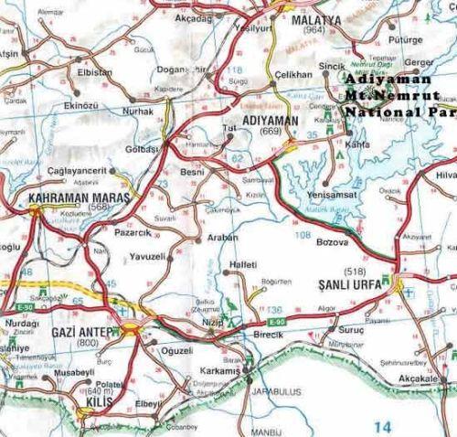 Где находится Газиантеп на карте Турции
