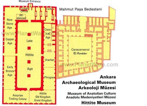 Музей Анатолийских цивилизаций план