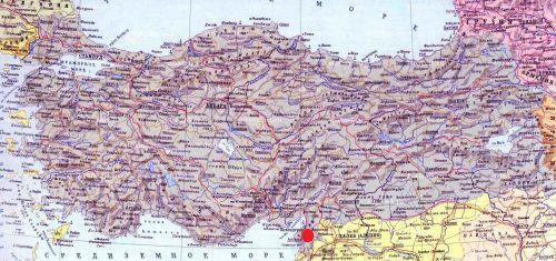 Вакыфлы на карте Турции