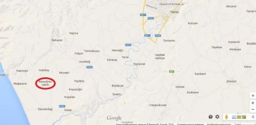 где находится Вакыфлы на карте Турции