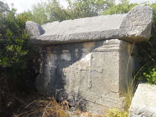 Элаусса Себасте саркофаг с крестом