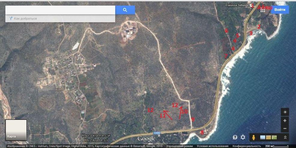 айяш и элеусса севастийская на карте Турции