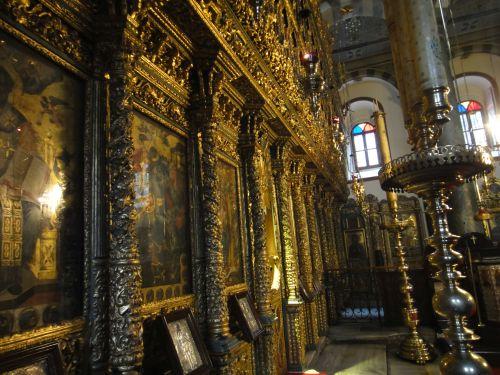 Константинопольский Патриархат Стамбул вид на иконостас