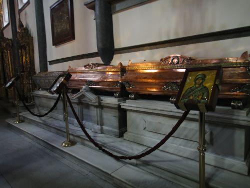 Константинопольский Патриархат Стамбул гробницы святых
