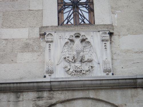 Константинопольский Патриархат Стамбул рельефы на церкви Георгия герб Вселенского Патриархата