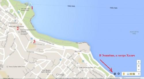 Патриархия на карте Стамбула