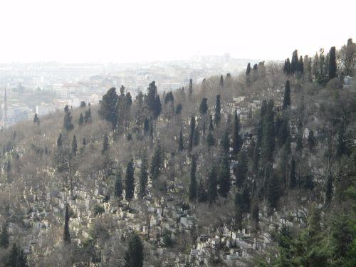 Мусульманское кладбище в Стамбуле около Пьер Лоти