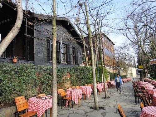 Открытое кафе Пьер Лоти в Стамбул