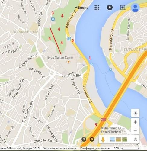 где находится историческое кафе пьер лотти на карте стамбула