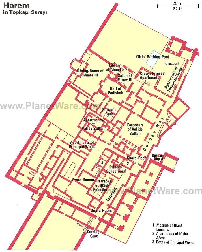 план гарема во дворце Топкапы