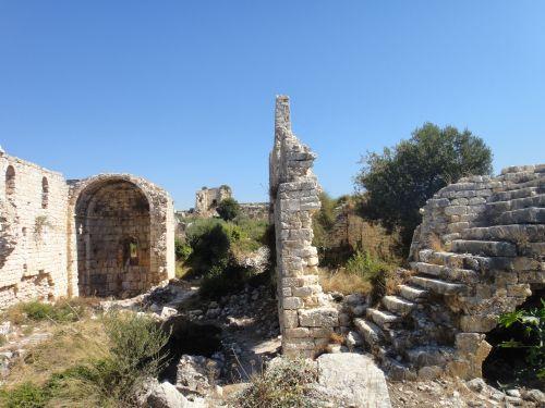 крепость корикос кызкалеси внутренняя территория