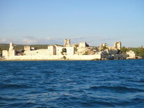 крепость корикос вид с моря кызкалеси