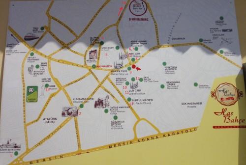карта достопримечательности Тарсуса