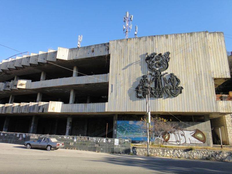 гагра заброшенные здания