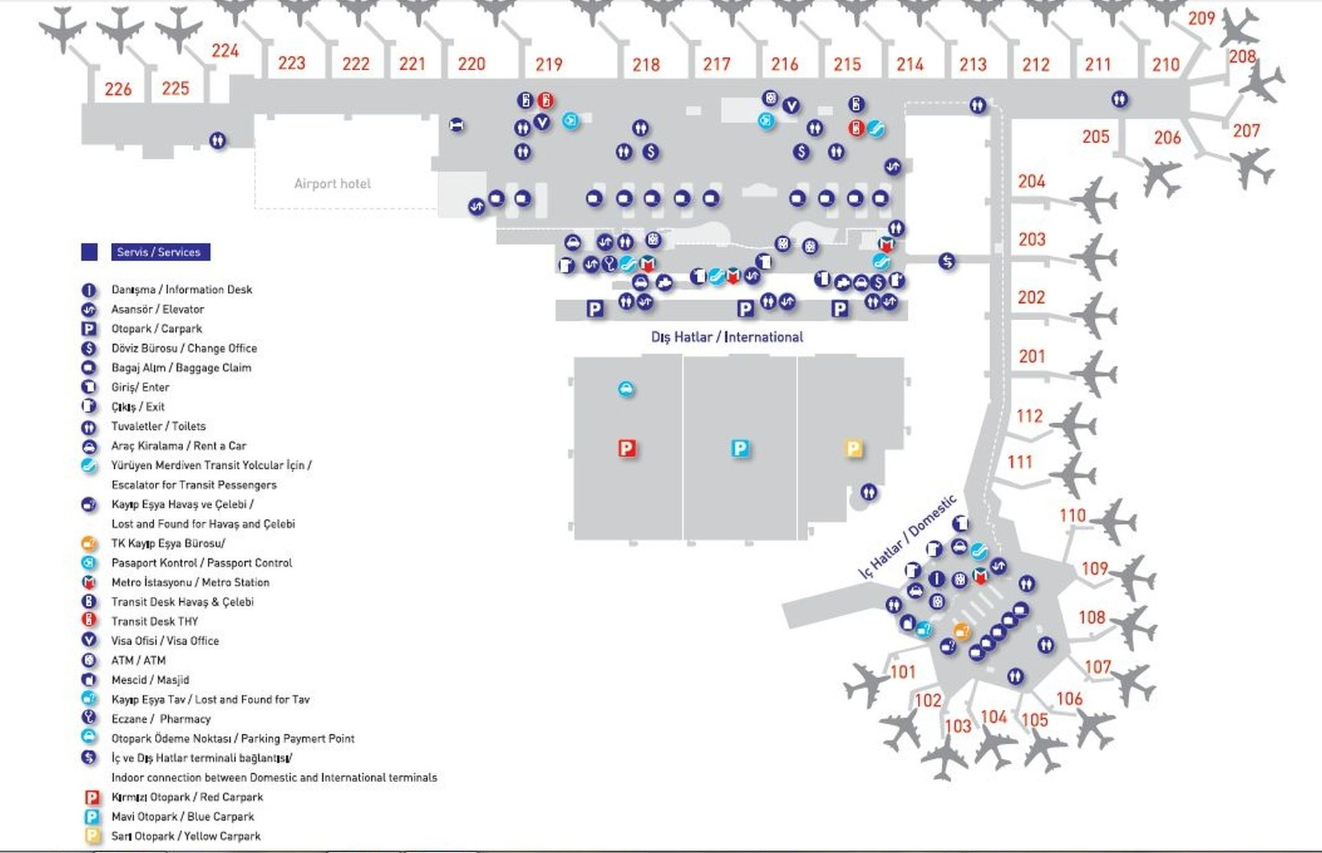 карта аэропорта ататюрк