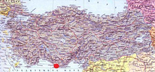 анамур на карте турции