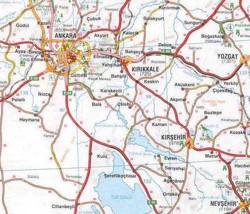 Анкара на карте Турции