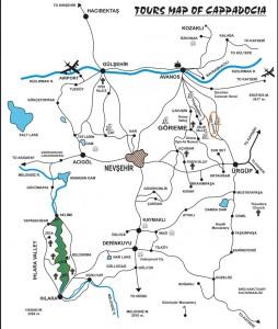 Дервент на карте Каппадокии