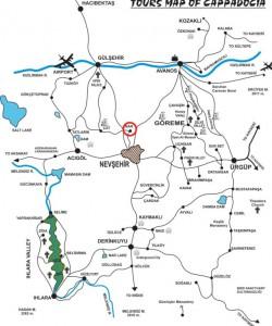 Нар на карте Каппадокии