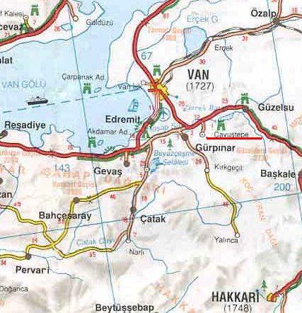 Чавуштепе на карте Турции