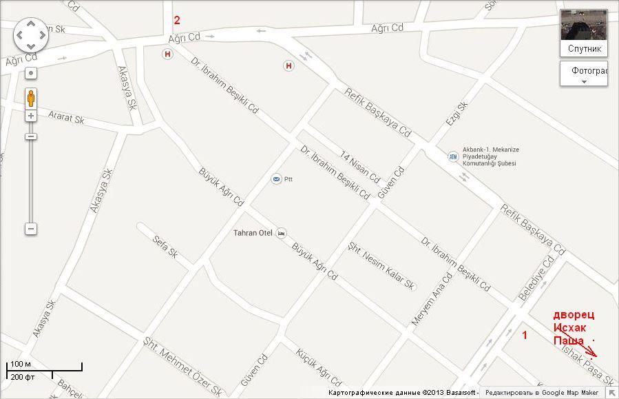Карта центра Догубаязыта