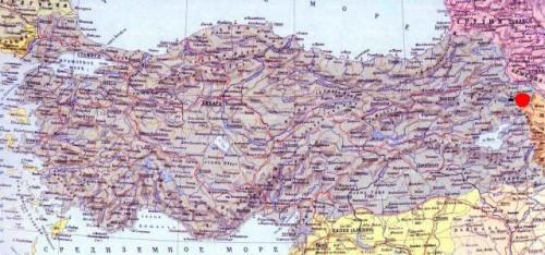 Догубаязыт на карте Турции дворец Исхак паши на карте Турции