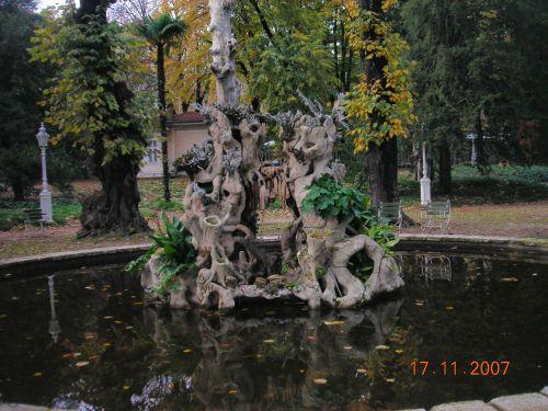 дворец долмабахче фонтан в парке