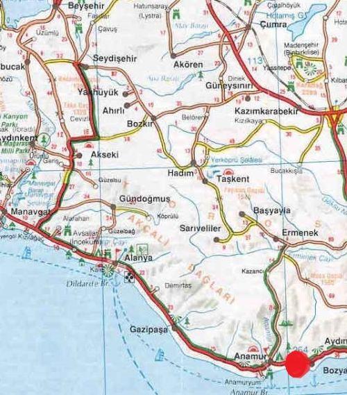 где находится крепость мамуре на карте турции
