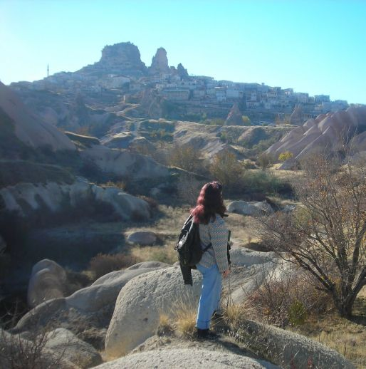 Долина Голубиная Каппадокия вид на Учхисар