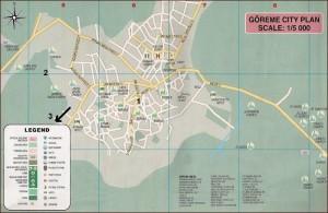 Карта Гереме Каппадокия