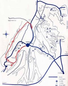 Долины Голубиная и Любви на карте Каппадокии
