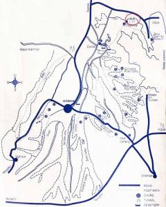 Пашабаг на карте Каппадокии