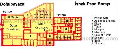 план дворца Исхака Паши