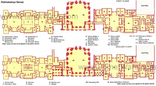 дворец долмабахче стамбул план схема