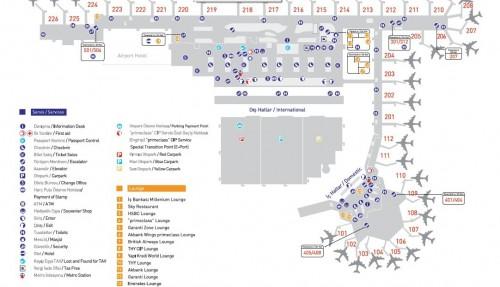 карта зала вылета аэропорта Ататюрк в Стамбуле (кликабельна)