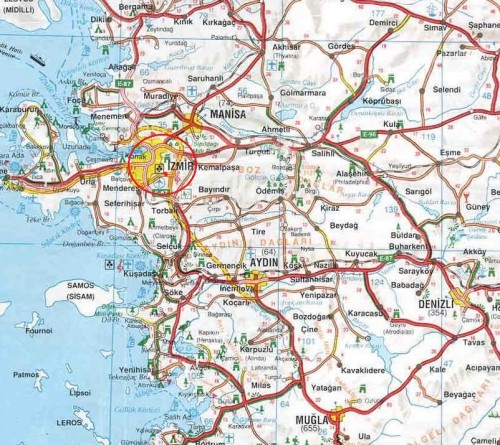 Измир на карте Турции как добраться до Измира