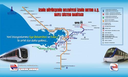 карта метро измира