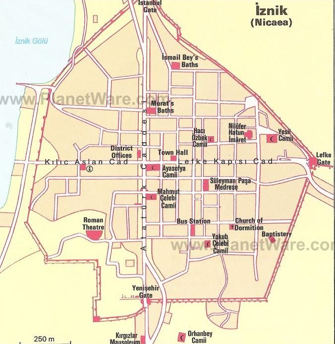 Карта Изник