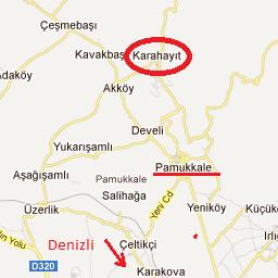 Карахаит на карте Турции