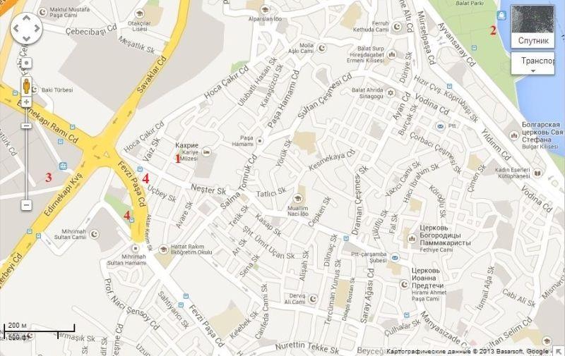 Музей Хора Карийе на карте Стамбула