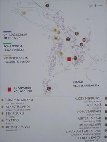 карта достопримечательностей древнего Олимпоса