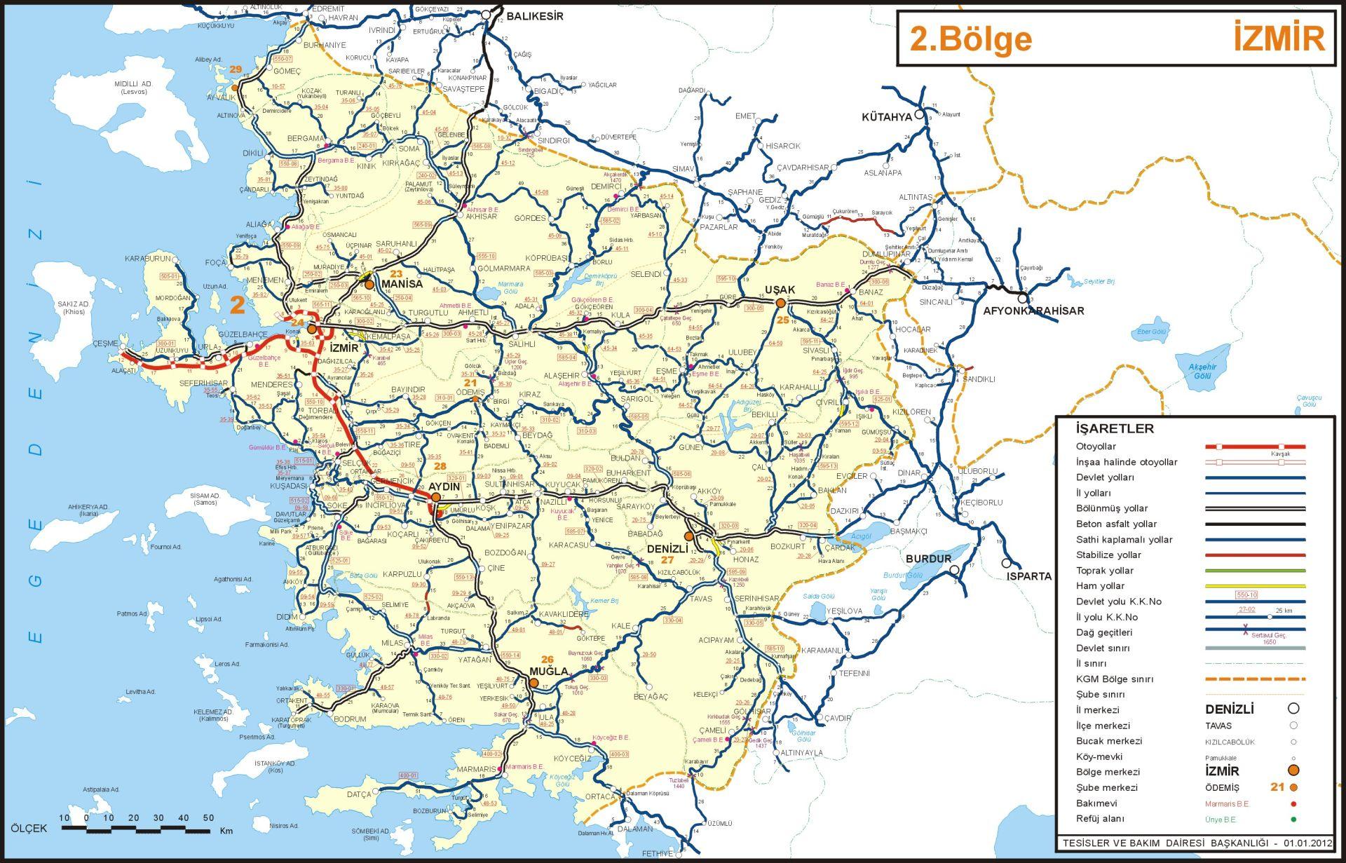 карта ил Измир
