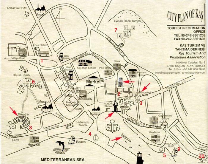 Карта города Каш