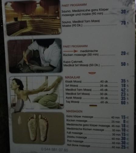 цены на хамам в Кызкалеси Kizkalesi